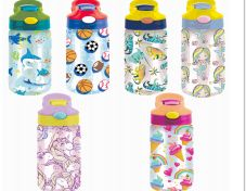 24 Units of Splash Plastic Bottle Kids 16.9 Oz. Flip Straw - Drinking Water Bottle