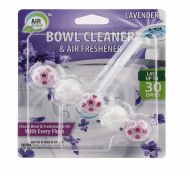 72 Units of Air Fusion Bowl Cleaner And Freshener 5 Pack Lavender - Air Fresheners
