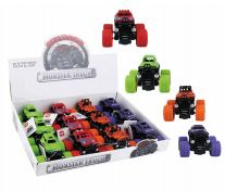 36 Units of Toy Monster Truck Display - Cars, Planes, Trains & Bikes