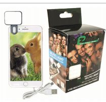 24 Units of Ez Tech Selfie Light Usb Rechargeable Battery Black - Chargers & Adapters