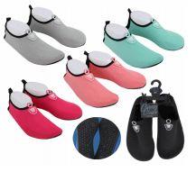 36 Units of Ladies Water Shoe Solid Stitches - Women's Aqua Socks