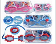 24 Units of Water World Swimming Goggles Kids Big Case - Hair Accessories