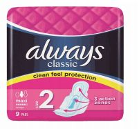 48 Units of Always Classic Maxi 9 Wings Magneta - Personal Care
