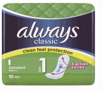 48 Units of Always Classic Normal 10 Standard Green - Personal Care