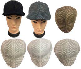 36 Units of Mesh Golf Hat Solid color - Fedoras, Driver Caps & Visor