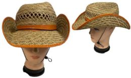 24 Units of Cowboy style Straw Hat - Cowboy & Boonie Hat