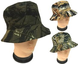 48 Units of Forest Camo Bucket Hat Assorted Patterns - Bucket Hats
