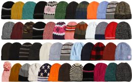 48 Units of Yacht & Smith Winter Hat Beanies for Adults, Mixed Colors And Styles Assortment, Unisex - Winter Beanie Hats