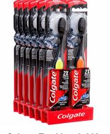 72 Units of Colgate Toothbrush 360 Charcoal Black - Toothbrushes and Toothpaste
