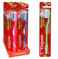 120 Units of Colgate Toothbrush Double Action Medium - Toothbrushes and Toothpaste