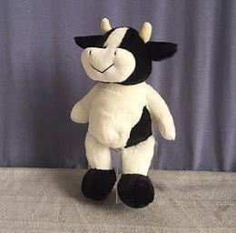 24 Units of 8.5 Inch Soft Stuffed Cow - Plush Toys