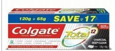 36 Units of Colgate Toothpaste 160g 6.52oz Total Charcoal Deep Clean - Toothbrushes and Toothpaste