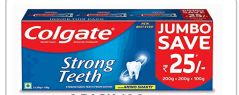 24 Units of Colgate Toothpaste 500 Grams 16.9oz Strong Teeth 3 Pack - Toothbrushes and Toothpaste