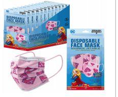 1200 Units of Disposable Children Mask 10 Pack Supergirl - Face Mask