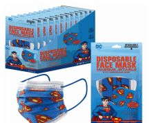1200 Units of Disposable Children Mask 10 Pack Superman - Face Mask