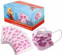 1200 Units of Disposable Children Mask 50 Pack Supergirl - Face Mask