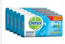 27 Units of Dettol Soap 105g 5 Pack Cool - Soap & Body Wash