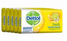 27 Units of Dettol Soap 105g 5 Pack Fresh - Soap & Body Wash