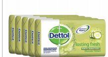 27 Units of Dettol Soap 105g 5 Pack Lasting Fresh - Soap & Body Wash