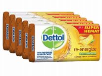 27 Units of Dettol Soap 105g 5 Pack Reenergize - Soap & Body Wash