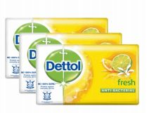 27 Units of Dettol Soap 105g 5 Pack Fresh Yellow - Soap & Body Wash