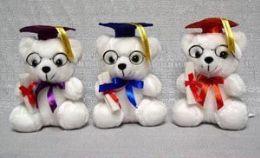 60 Units of Graduation Color Cap Bear - Plush Toys
