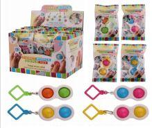 24 Units of Popper Bubble Keychain - Bubbles