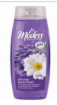 48 Units of Modess Body Wash 18oz Lavender Chamomile - Soap & Body Wash