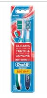 60 Units of Oral B Toothbrush 2 Pack Cavity Defense Medium - Toothbrushes and Toothpaste
