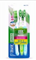 48 Units of Oral B Toothbrush 3 Pack Ultrathin Sensitive Green - Toothbrushes and Toothpaste