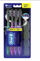 72 Units of Oral B Toothbrush 4 Pack Cavity Defense Black With Cover - Toothbrushes and Toothpaste