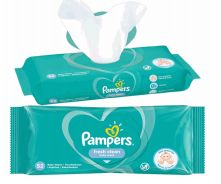 48 Units of Pampers Wipes 52 Count Fresh Clean - Baby Beauty & Care Items