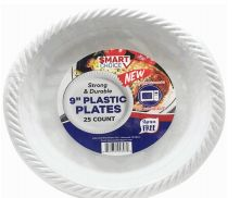 48 Units of Plastic Plate Microwaveable 9 Inch 25 Count - Disposable Plates & Bowls