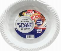 12 Units of Plastic Plate Microwaveable 9 Inch 100 Count - Disposable Plates & Bowls