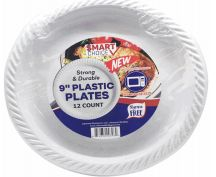24 Units of Plastic Plate Microwaveable White 7 Inch 50 Count - Disposable Plates & Bowls