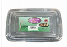96 Units of Microwave Container Rectangle .32oz 2 Count - Food Storage Containers