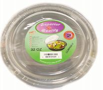 96 Units of Microwave Container Round 32oz 2 Count - Aluminum Pans