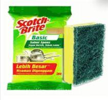 96 Units of Scotch Brite Basic Sponge - Scouring Pads & Sponges