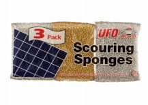 72 Units of Ufo Scouring Sponge 3 Pack - Scouring Pads & Sponges