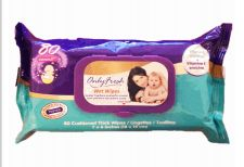 48 Units of Only Fresh Wipes 80 Count With Lid Original - Baby Beauty & Care Items