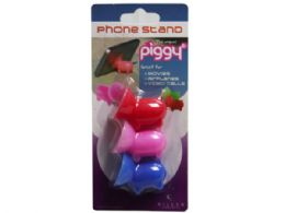 72 Units of 3 Pack Silicone Piggy Phone Stand - Cell Phone Accessories