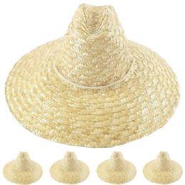 24 Units of Natural Palm Straw Man Summer Hat - Sun Hats
