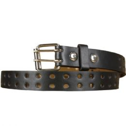 36 Units of Punched Kid Belt In Brown - Kid Belts