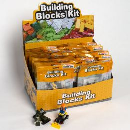 32 Units of Blocks Building Kit Pouch 32ast Police/army/fire/const 32pc Pdq - Toys & Games