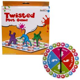 12 Units of Game Twisted Mat W/spinner Color Box Packaging Ages 6+ - Toys & Games