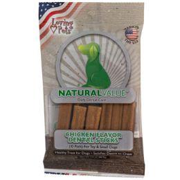 24 Units of Dog Treats Chicken Flavor Dental Sticks 10pk 3.0 oz - Pet Supplies
