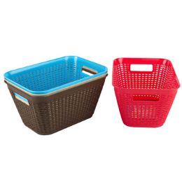 48 Units of Basket Lg Rect 4 Colors In Pdq 11.2 X 7.8 X 5.9  ST-3938 - Baskets
