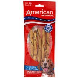24 Units of Dog Treats Chicken Flavor 5pk 5in Twistedz Sticks - Pet Supplies