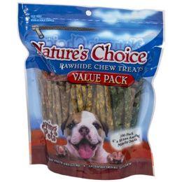 12 Units of Dog Treats Rawhide 100pk 5 Inch Assorted Munchy Sticks - Pet Supplies
