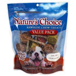 12 Units of Dog Treats Rawhide 20pk Asst Lollipops Resealable Zipper - Pet Supplies